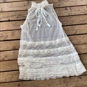Free people sheer tulle dress
